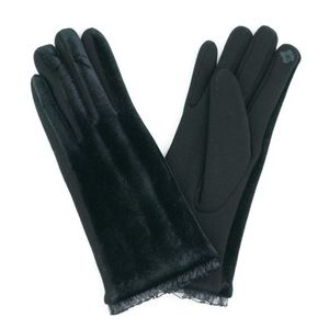 🌲Black Velvet Warm Soft Lace Smart Touch Gloves